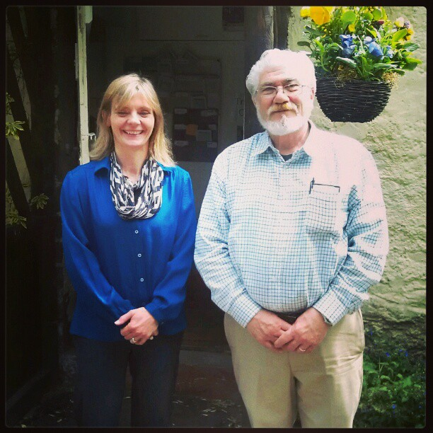 Dad & Catherine Lady of Traquair. - from Instagram