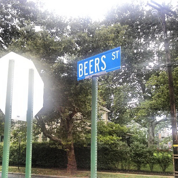 Just walking along, was thinking about stopping at a pub for a beer. I guess I'll see where this street takes me. Cheers. .. - from Instagram