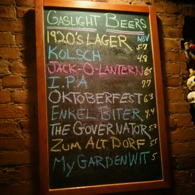 What's On Tap. Gaslight's Offering. Have a Pint & A Smile......... Enjoy. - from Instagram