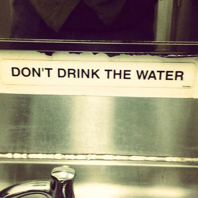 But the beer is fine!!! #dontdrinkthewater - from Instagram