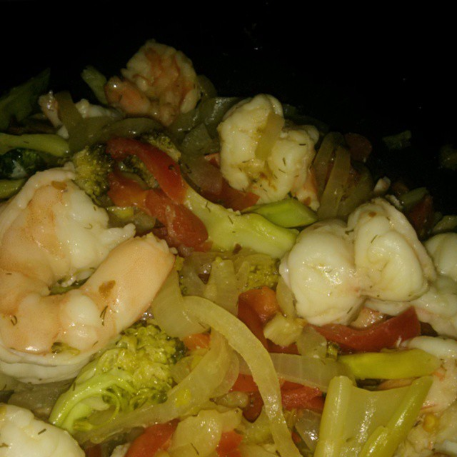 Late night shrimp stir fry.... - from Instagram
