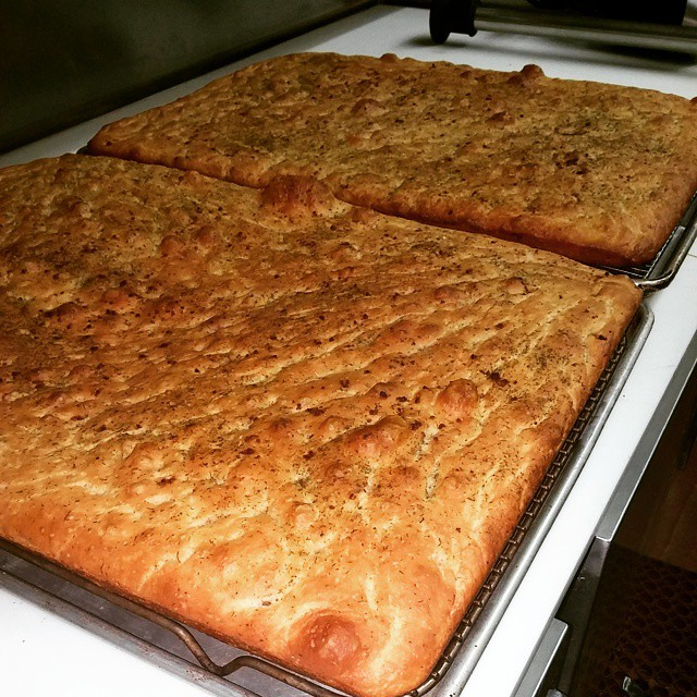 Just out of the oven our house made Focaccia Bread.. Smells good. #Focaccia - from Instagram