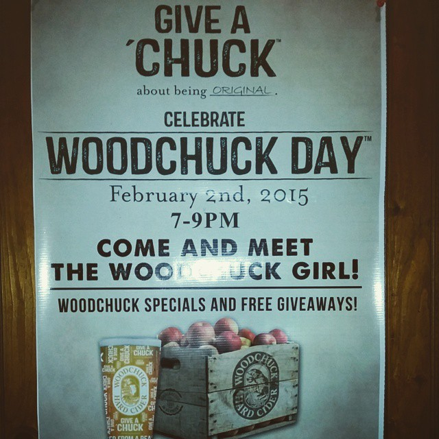 Stop by at Gaslight Feb 2. Does a woodchuck, drink cider.? #Woodchuckcider - from Instagram