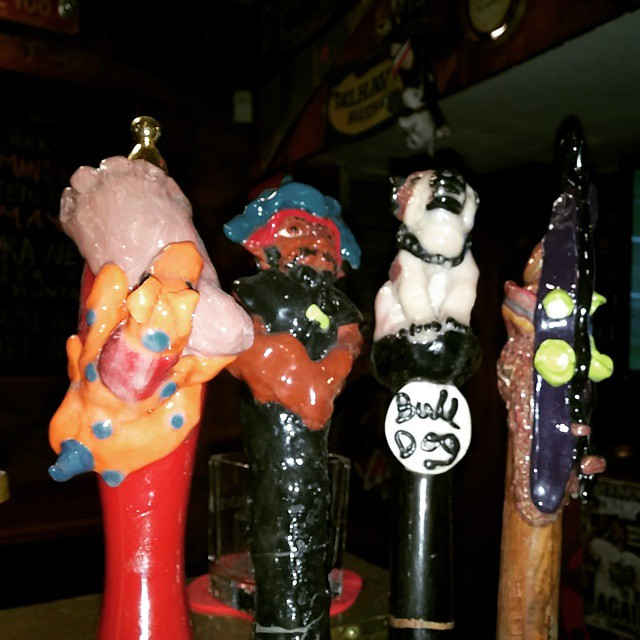 Taps by Cindy.. Enkel Biter, Pirate Pale Ale, Bulldog Blonde & Slalom Ale. - from Instagram