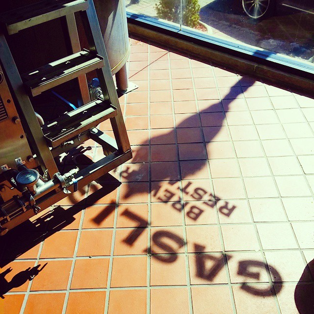 The Sun..... Awesome shadows from the street #Gaslight. #Brewery #nj #southorange #brewpub #drinklocal #drinkcraftbeer - from Instagram
