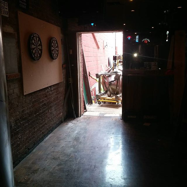 Here comes the tanks... #brewpub. Something new at Gaslight. Change is always good. - from Instagram