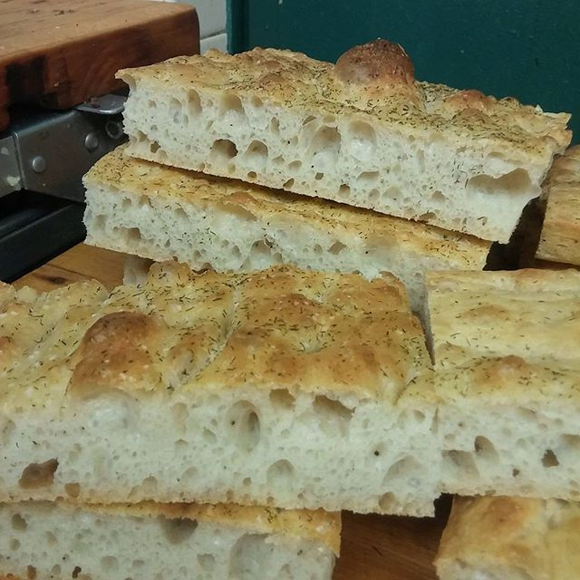 Today's #foccacia #freshbread love my holes.... #brewpub #southorangenj - from Instagram