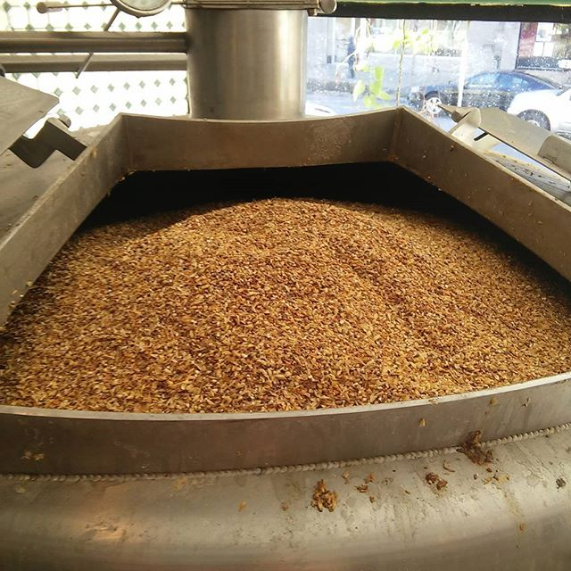 I guess it's a 680lb mash tun. Probably could push it to 700lb. Next time. #woooo #imperialstout - from Instagram