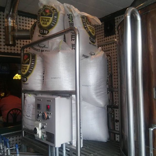 680lb of malt for 6.5bbl of beer! Getting ready to brew our #imperialstout #colossus - from Instagram