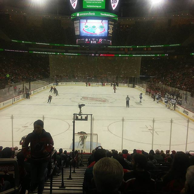 #rockinattherock enjoying a little #njdevils with some #departedsoles and some #njbeerco btw Devils just SCORED!! - from Instagram
