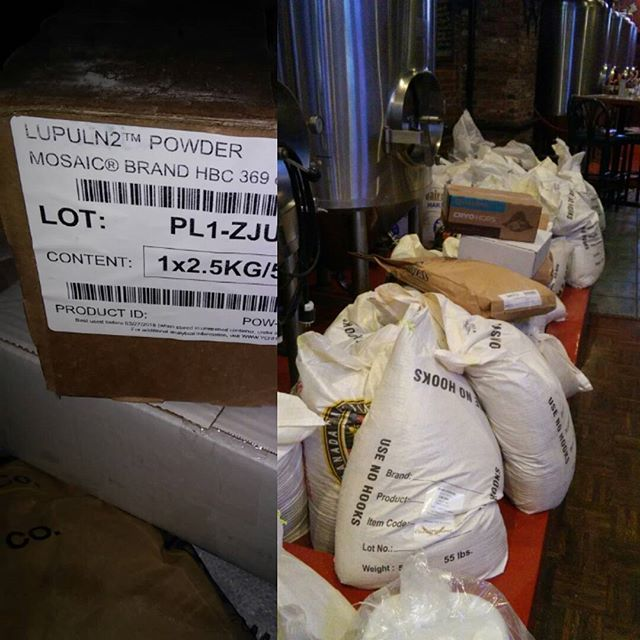 Happy Beer Day!!! #njbeer #cryohops #lupulN2 Time to make the beer! Time to drink the beer #newjerseybeer #mosaichops #beer #malt - from Instagram