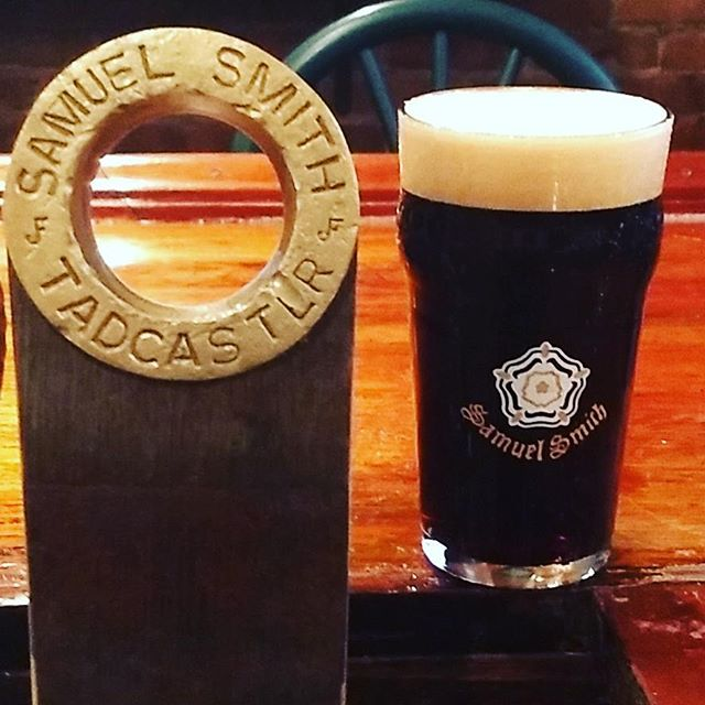 Now on tap. Samuel Smith Oatmeal Stout. 1 of the 1st kegs to ever make it the U.S.A.#samsmithontap #oatmealstout #tadcaster - from Instagram